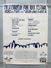 Affiche Festival Punk / Mont de Marsan (1976) / Marc Zermati / Alain Pacadis