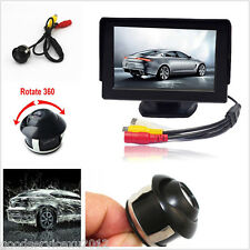 12V 360° Rotatable Car Backup Reverse Parking Camera Display Monitor Kit For BMW