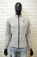 NIKE Felpa Uomo Maglia Cardigan Pullover Taglia S Sweater Sport Maglione Cotone