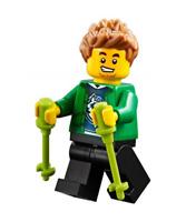 Lego ® City Minifig Figurine Randonneur + Baton de Marche Vert NEW