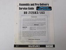 OEM Suzuki Assembly PDI Pre-Delivery Inspection Setup Service Guide DR-Z125 DRZ