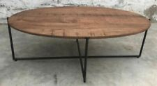 Design sofá mesa masivamente mangoholz mango de madera anthony oval mesa auxiliar 110 cm