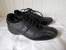 Chaussures à lacets cuir noir et daim GEOX 35 semelle caoutchouc