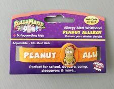 AllerMates PEANUT Allergy Wristband Alert Medical ID Silicone Safety Bracelet