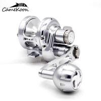 CAMEKOON Lever Drag Saltwater Reel Aluminum CNC Machined Fishing Jigging Reel