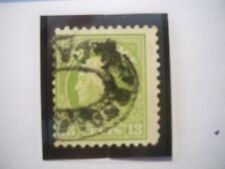 USA Used, , 1919 issue, 13 cent Franklin, Apple Green, Perf 11.