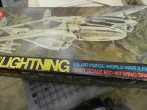 P-38 Lightning  Guillows Balsa kit Rc airplane  kit 2001