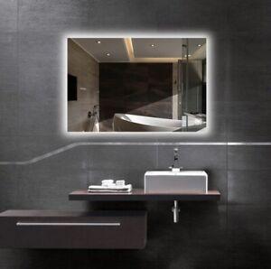 """Hans & Alice, Frameless LED Wall Mirror, 29"""" x 47"""", Anti Fog (0941MIR-Y12LED)"""