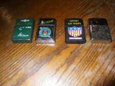 Lot of 4 military themed lighters 1 used 3 Nos lot