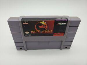 1992 Mortal Kombat SNES Super Nintendo Cartridge Tested & Authentic