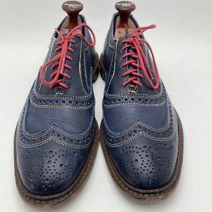 Allen Edmonds Neumok Casual Wingtip Oxford Blue 4065 US 9.5 E