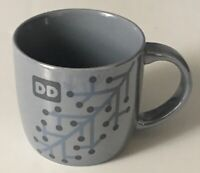 Dunkin' Donuts 2014 DD Iridescent Gray Doughnut Coffee Mug / Tea Cup - EUC