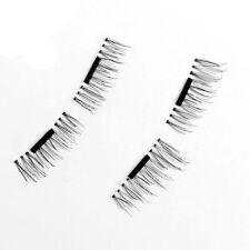 4 Pcs/2 Pairs 3D Magnetic False Eyelashes Natural Soft Makeup