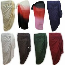 100% Cotton Extra Large Plus Size 200 x 110cm Sarong Beach Pareo Dress Wrap Swim