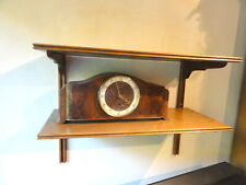 Kaminuhr Kaiser Holz Schlagwerk Antik mit Schlüssel Uhr Tischuhr Standuhr clock