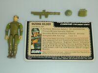 1983 GI Joe Bazooka Soldier Zap v1.5 Swivel Arm Figure w/ File Card *Complete