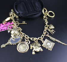 Jewelry Charm Betsey Johnson rhinestone chain golden mirror high heels bracelet