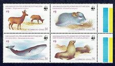 CHILE 1984 STAMP # 1113/16 MNH FAUNA BLOCK OF FOUR WWF #4
