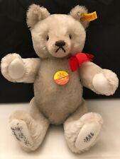 Steiff Grey Teddy Bear 0207/36 Growler Signed On Feet