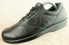 SAS Free Time Black Leather Comfort Casual Nurse Shoes Women's Size 10 S Narrow