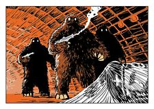 Doctor Who Art Print The Web of Fear Yetis by Scott Gray
