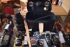 Großes Konvolut 1 Kamera, 3 Objektive und viel Zubehör, sehr gepflegt