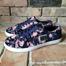 Guess GG Mallory-R Women's Size 8 Velvet Floral Comfort Pink Blue Sneakers 405