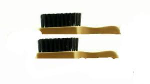 2 x Skin Fade Wave Mini Afro Hair Beard hard Brush 100%Reinforced Boar Bristles