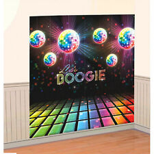 Disco Fever Let's BOOGIE Scene Setters 70s Themed Party Wall Decorating Kit 1970