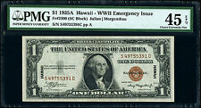Fr. 2300 $1 1935A Hawaii Silver Certificate. PMG Choice Extremely Fine 45 EPQ.