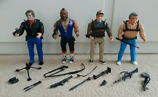 4 x Vintage 1983 The A-Team 6 Inch Figures and Various Accessories