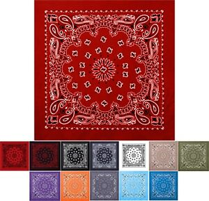 Jumbo Trainmen Paisley Bandana Cotton Sport Biker Extra Large Head Face Wrap 27""