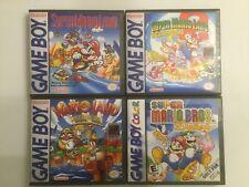 Super Mario Land 1, 2, 3, + Super Mario Bros. Deluxe - Game Boy Color GB Cases