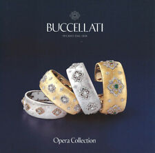 BUCCELLATI Luxury Jewelry CATALOG Hardcover BOOK - Opera Collection - 36 Pages
