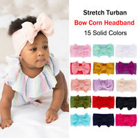 Baby Girls Headband Big Bow Cotton Blend Nylon Hair Bow Hair Band for Newborn