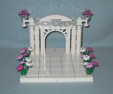 NEW CUSTOM LEGO WEDDING CAKE TOPPER,PINK ACCENT FOR BRIDE AND GROOM MINIFIGURES