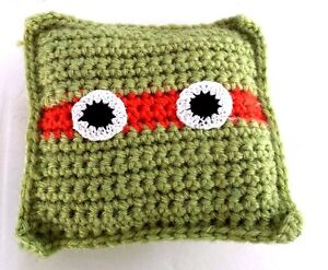 Turtle tooth fairy pillow handmade crochet