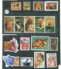 WORLD THEMATIC USED STAMPS *17 PCS LIONS/CATS/ANIMALS # 726