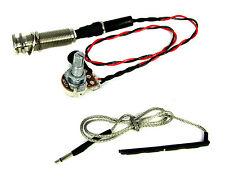 Ukulele Rod Piezo Harness with Volume Pot. & Endpin Strap Button Jack - 50-64-01