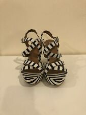nordstrom BP Striped Wedge Sandals Size 8