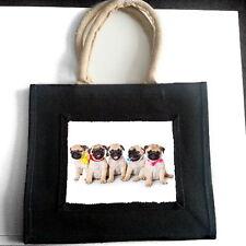Fawn Pug Cachorros Yute Bolso De Compras Mascota Perro Amante raza Foto Regalo