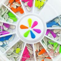 Mix neon colors Teardrop shape nail studs 3D Design Manicure Wheel
