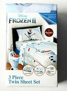 Disney Frozen II 3 Piece Twin Sheet Set (New)