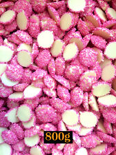 Pink Speckles on White Chocolates 800g - Pink on White Jewels Freckles Bulk
