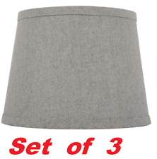 Hampton Bay Mix & Match Round Accent Lamp Shade Gray W/ Silver Sparkle (Set / 3)
