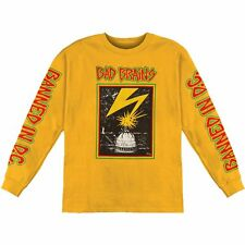 Authentic BAD BRAINS Band Capitol Logo Long Sleeve T-Shirt Yellow S-2XL NEW