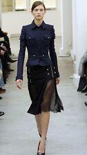 Balenciaga Runway 2005 Fall/Winter Black Military Jacket - Size 36