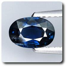 SAPPHIRE BLUE 1.00 cts. SI1. Non heated. Chanthaburi, Thailand, With Certificate