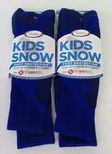 New Thorlos Unisex Youth Snow Protection Socks - 2 pack - Blue - Free Shipping!