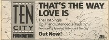28/1/89Pgn21 Advert: 'that's The Way Love Is' From Ten City Foundation 4x11